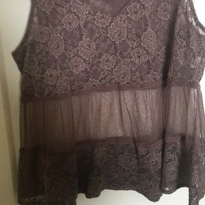 Maurices Tops - Maurice's xl brownish rose sheer sexy lace